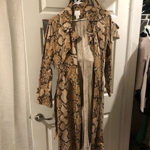 Snakeskin Trench coat